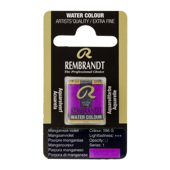Water Colour Pan Manganese Violet 596 - PackshotFront