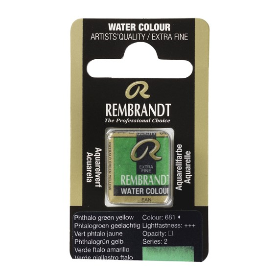 Water Colour Pan Phthalo green yellow 681 - PackshotFront