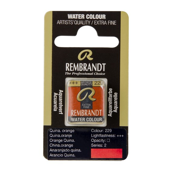 Aquarelle Godet Orange Quinacridone 229 - PackshotFront