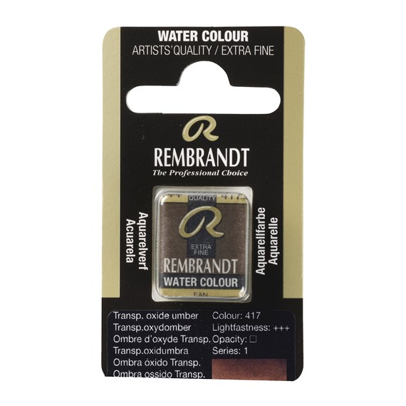 Water Colour Pan Transparent Oxide Umber 417 - PackshotFront