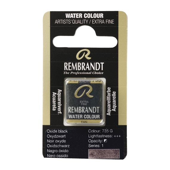 Water Colour Pan Oxide black 735 - PackshotFront