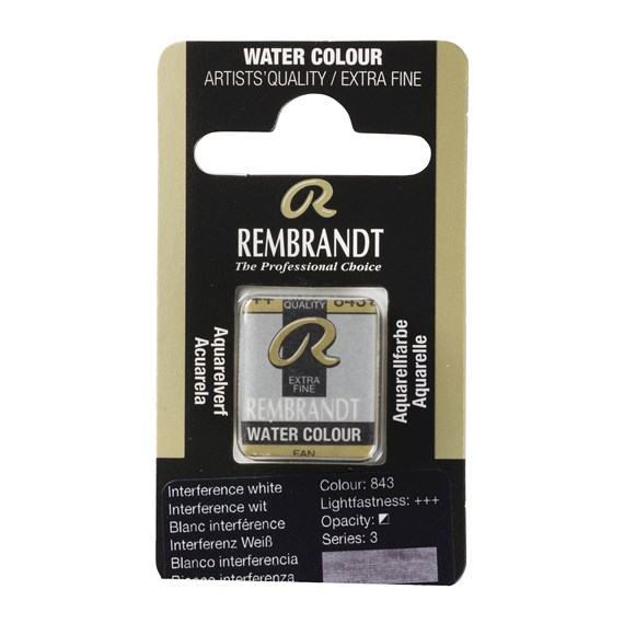 Water Colour Pan Interference White 843 - PackshotFront