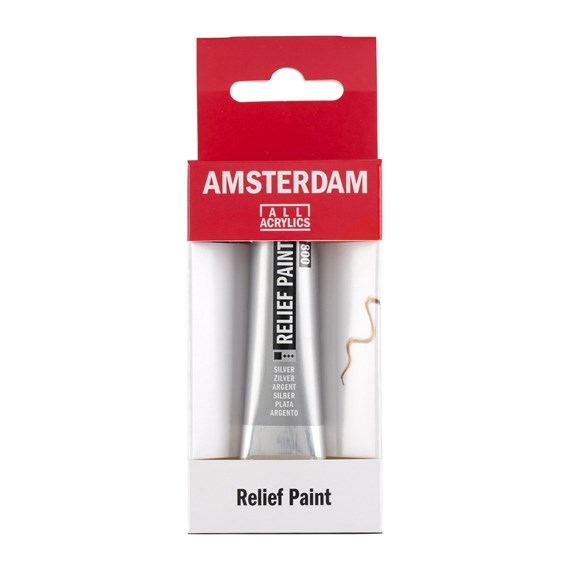 Relief Paint Tube 20 ml Silver 800 - PackshotFront