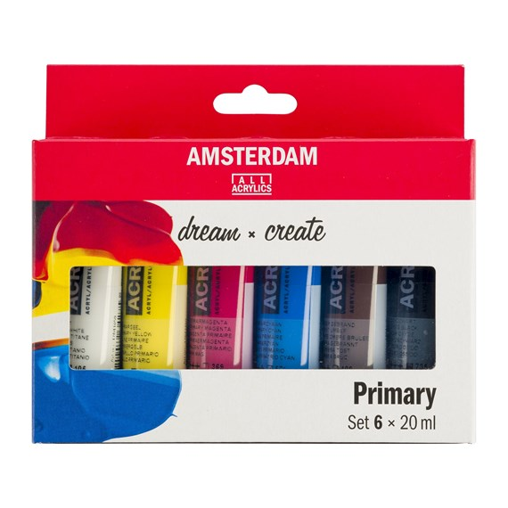Standard Series Acrylics Primary Set 6 × 20 ml  - PackshotFront