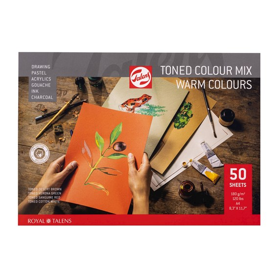 Toned Paper mix warm, A4, 180 g, 50 Vellen, - PackshotFront