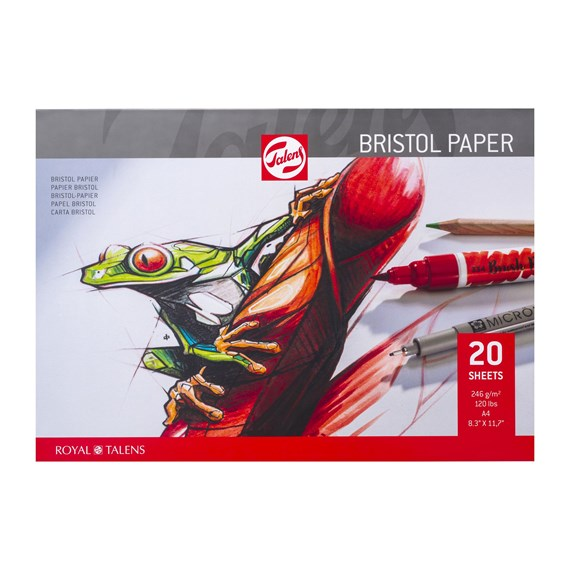 Bristol Paper A4, 246 g/m2, 20 pages, - PackshotFront