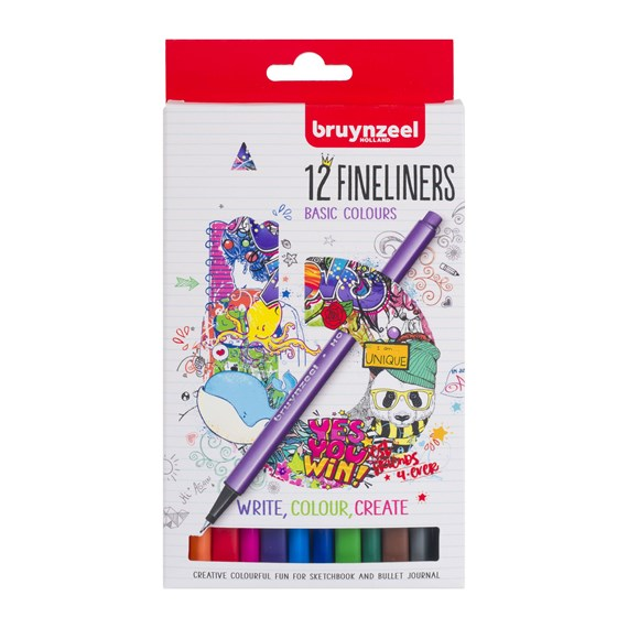Fineliner set 12 colours - PackshotFront