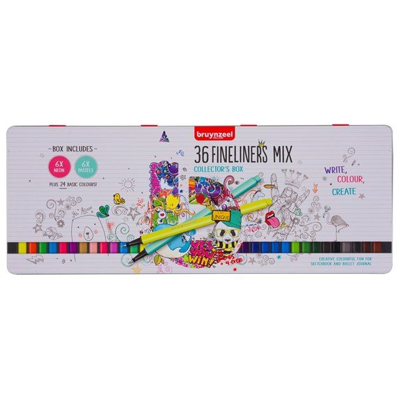 Fineliner set 36 kleuren - PackshotFront