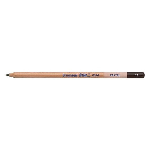 Design Pastel Mid Brown Grey Pencils - PackshotFront