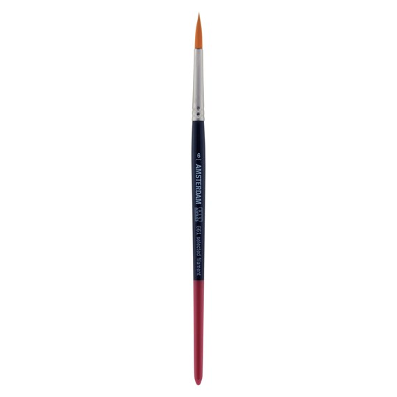 Brush Series 661 #6 - Synthetic Round - Short Handle - PackshotFront