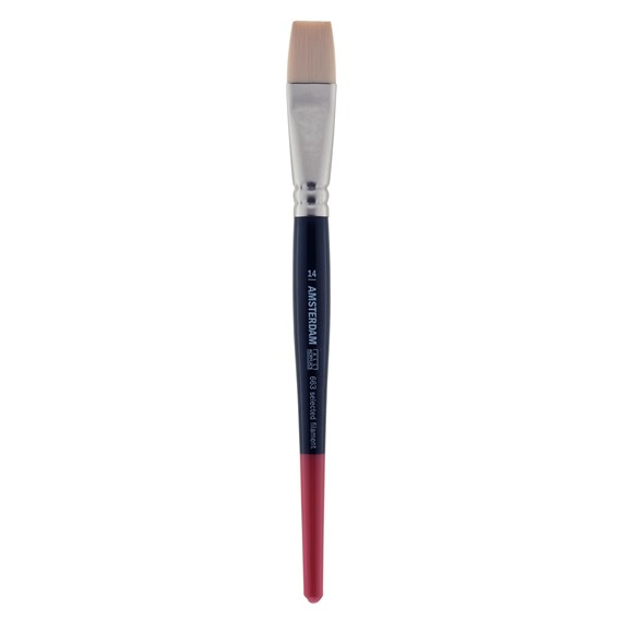 Brush Series 663 #14 - 14 mm - Synthetic Flat - Short Handle - PackshotFront