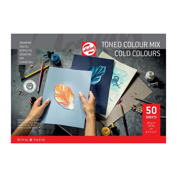 Toned Paper mix cold, A4, 180 g, 50 pages, - PackshotFront