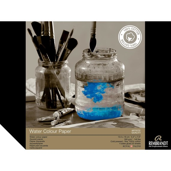 Water Colour Paper 13 X18, 300G, 20 Pages - PackshotFront
