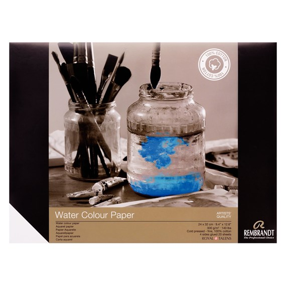 Water Colour Paper 24 X32, 300G, 20 Pages - PackshotFront