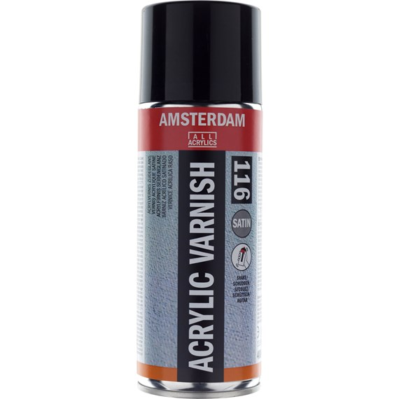 Amsterdam Acrylic Varnish Satin Spray Can 400 ml - PackshotFront