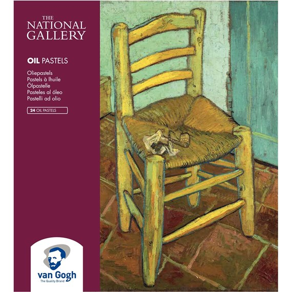 The National Gallary set oliepastels met 24 kleuren - PackshotFront