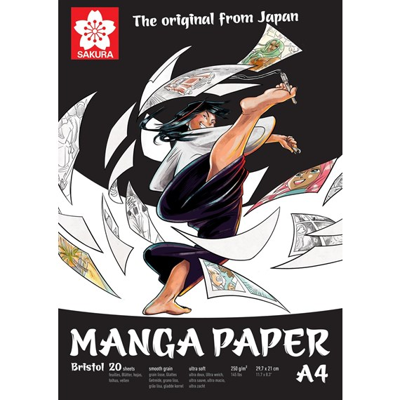 Papier Manga A4, 250G, 20 pages - PackshotFront