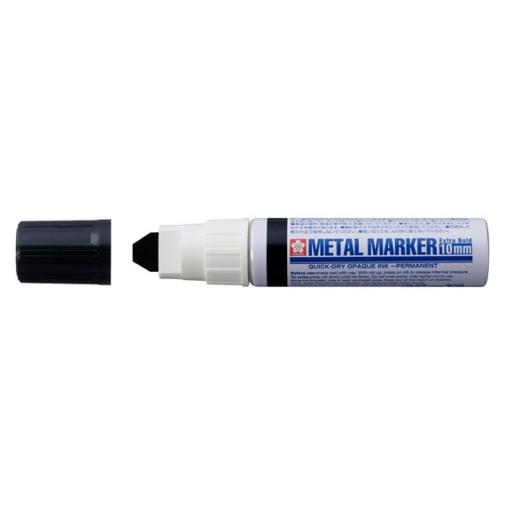 Metal Marker 10 mm Black - PackshotFront