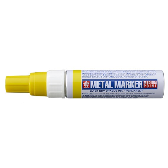 Metal Marker Medium Geel - PackshotFront