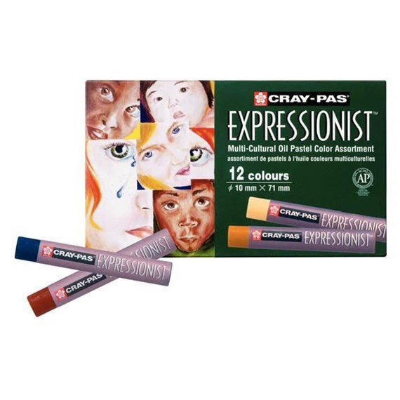 Cray-Pas Expressionist Set 12 Oliepastels - PackshotFront