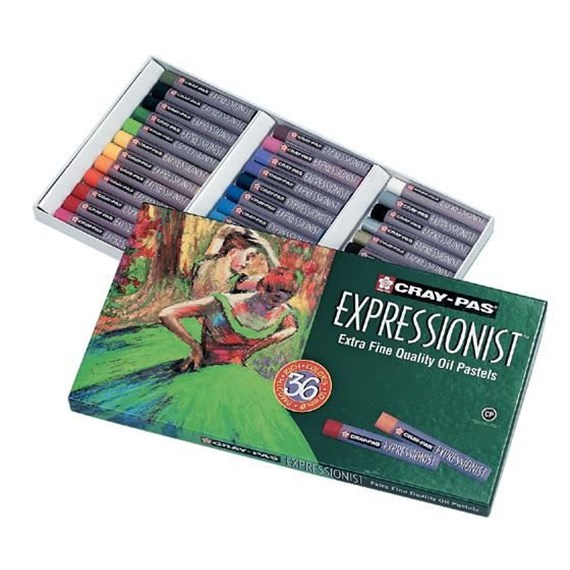 Cray-Pas Expressionist Set 36 Oil Pastels - PackshotFront