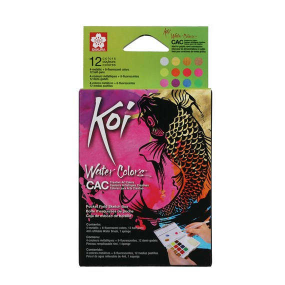 Koi watercolours Sketch Box 12 Creative Art Coulors - PackshotFront