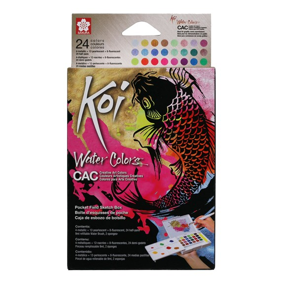 Koi aquarelles Sketch Box 24 couleurs - PackshotFront
