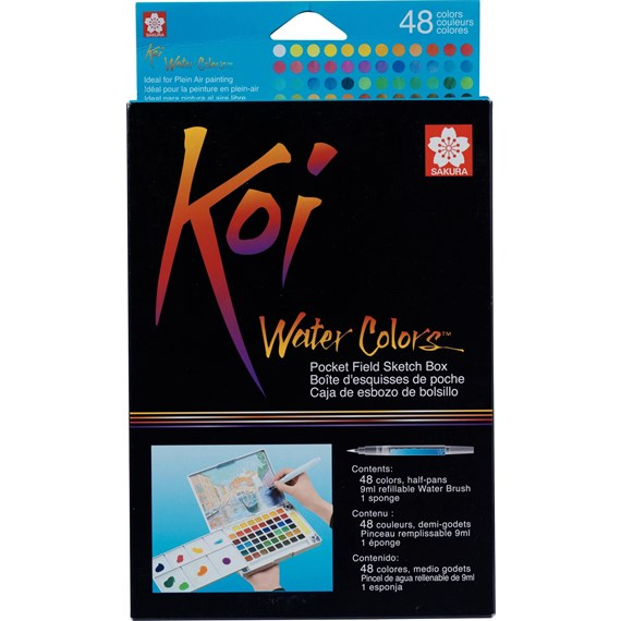 Koi aquarelles Sketch Box 48 couleurs - PackshotFront