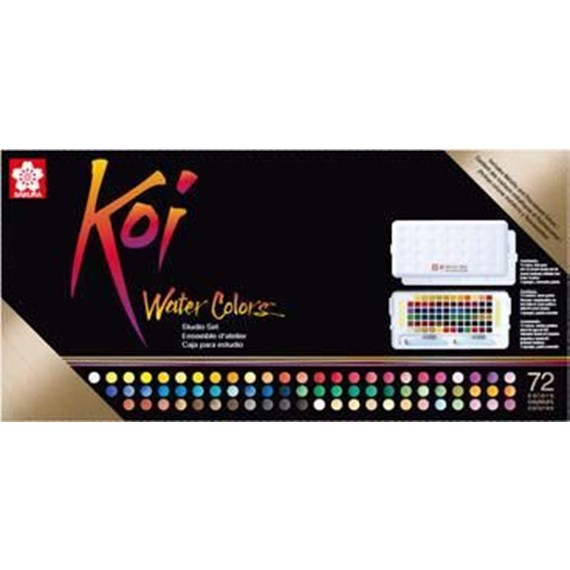 Koi watercolours Sketch Box 72 kleuren - PackshotFront