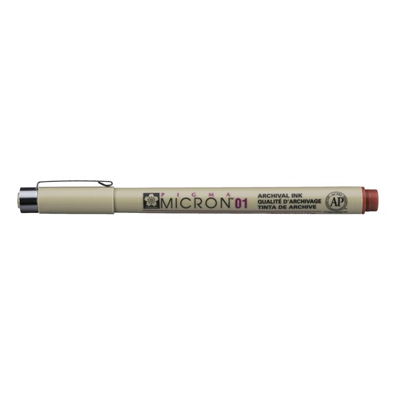 Pigma Micron 01 0.25 mm Brown - PackshotFront