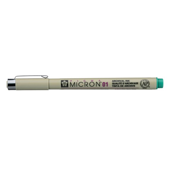 Pigma Micron 01 0.25 mm Green - PackshotFront