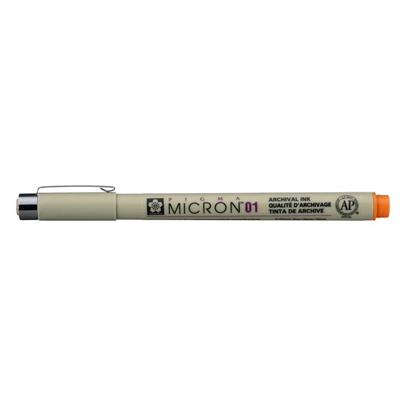 Pigma Micron 01 0,25 mm Orange - PackshotFront