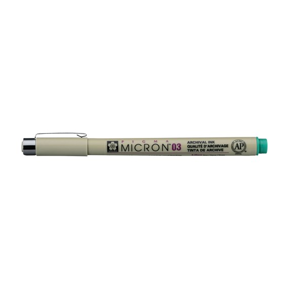 Pigma Micron 03 0.35 mm Green - PackshotFront