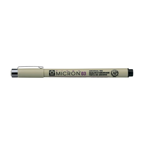 Pigma Micron 03 0.35 mm Black - PackshotFront