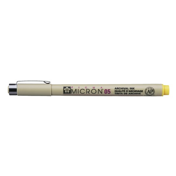 Pigma Micron 05 0.45 mm Yellow - PackshotFront