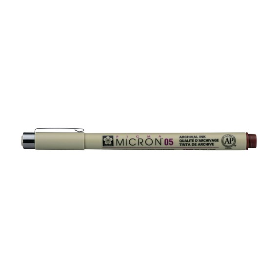 Pigma Micron 05 0.45 mm Burgundy - PackshotFront