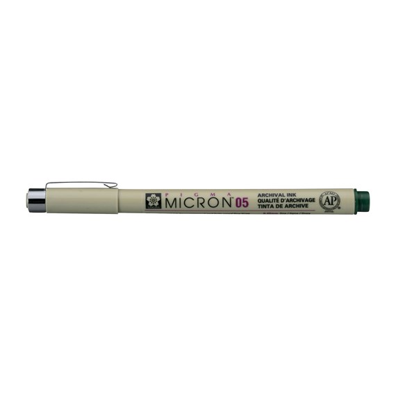 Pigma Micron 05 0,45 mm verde oscuro - PackshotFront