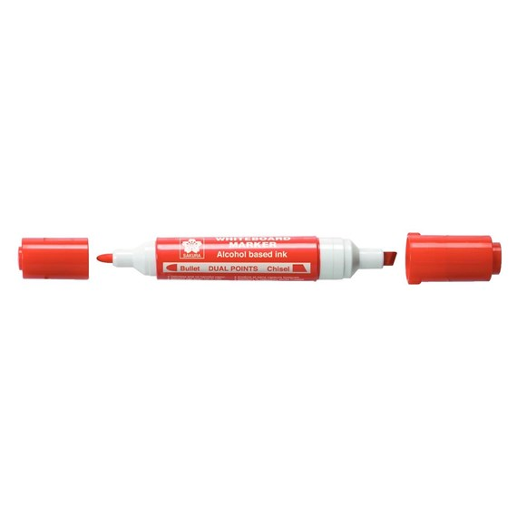 Whiteboard Marker Dual Points Red - PackshotFront